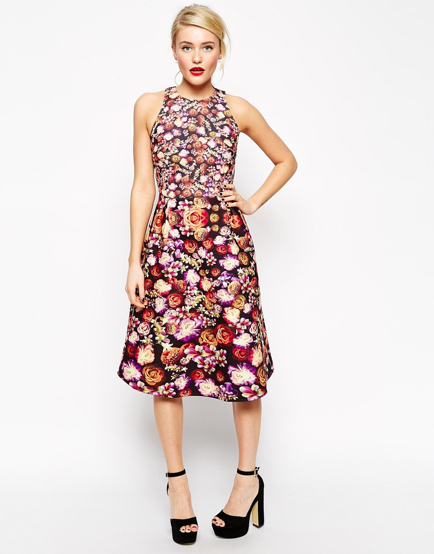 ASOS Midi Skater Bonded Floral Dress. ASOS. Was: $86 Now: $48.