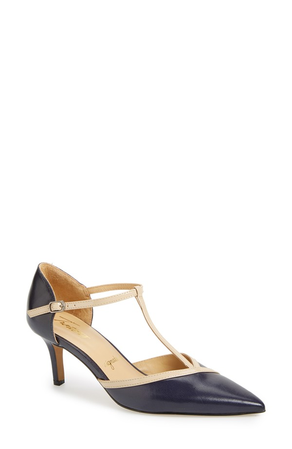 Trotters Amelia T-Strap Pump. Available in multiple colors. (Navy and nude pictured). Nordstrom. $134.