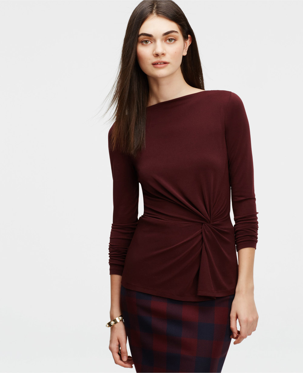 Knotted Crepe Top. Available in multiple colors. Ann Taylor. $59.