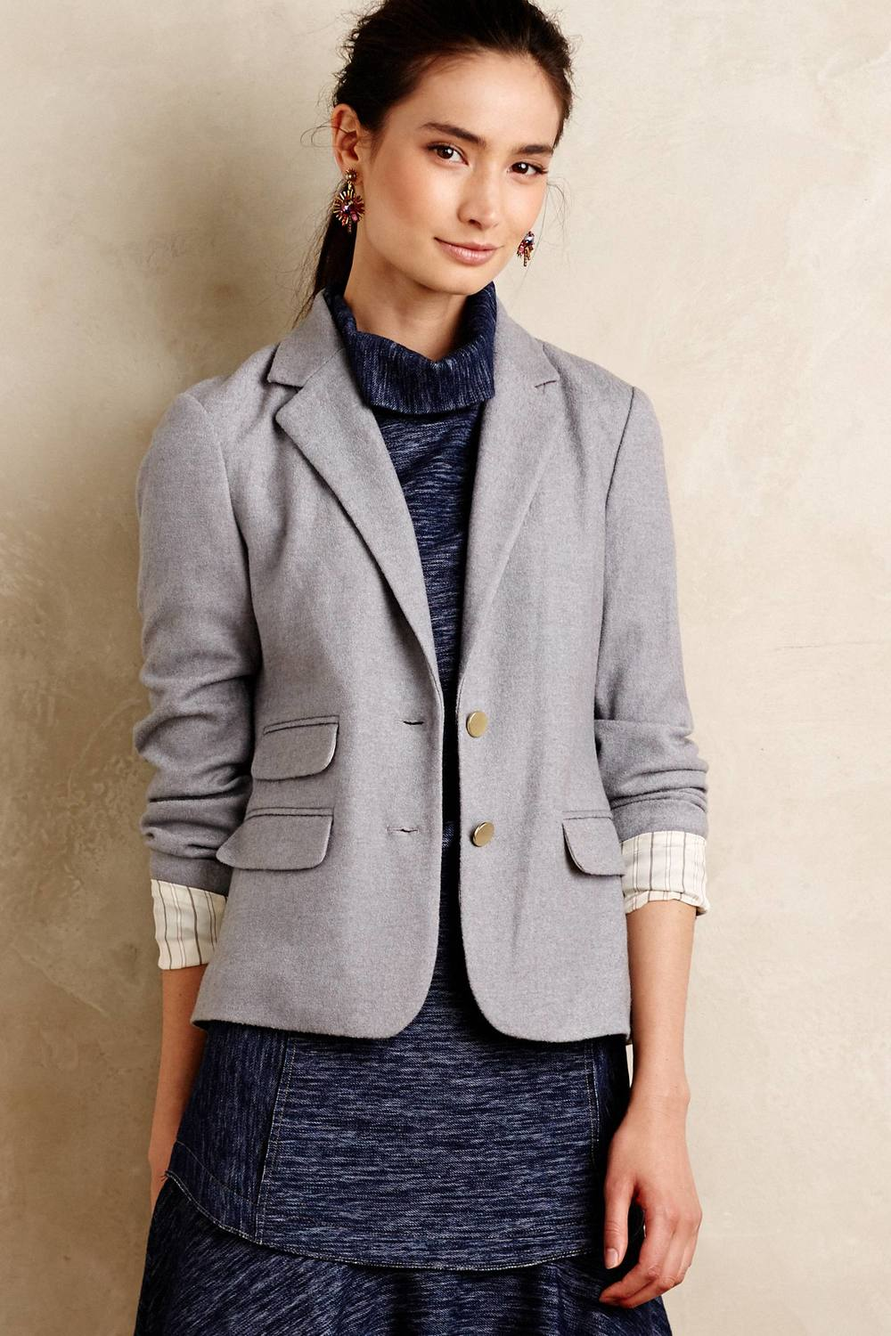 Ellis Blazer. Available in grey, camel. Anthropologie. $158.