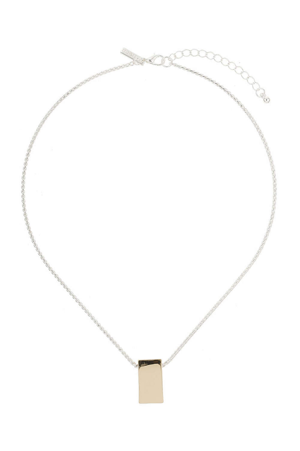 Silver and Gold Rectangle Necklace. Topshop. Was: $15 Now: $10.