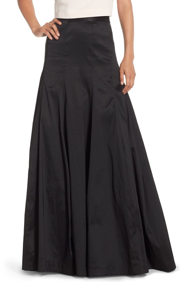 Eliza J Taffeta Floor Length Skirt