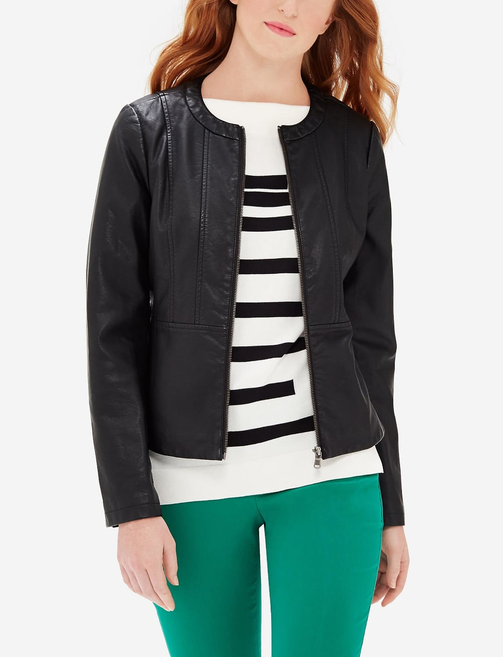 Faux Leather Jacket. The Limited. $159. Buy one get one 50% off.