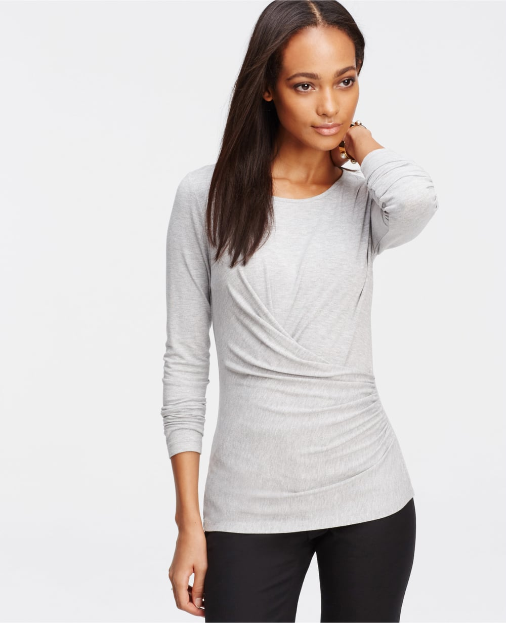 Ruched Long Sleeve Top. Ann Taylor. $59.