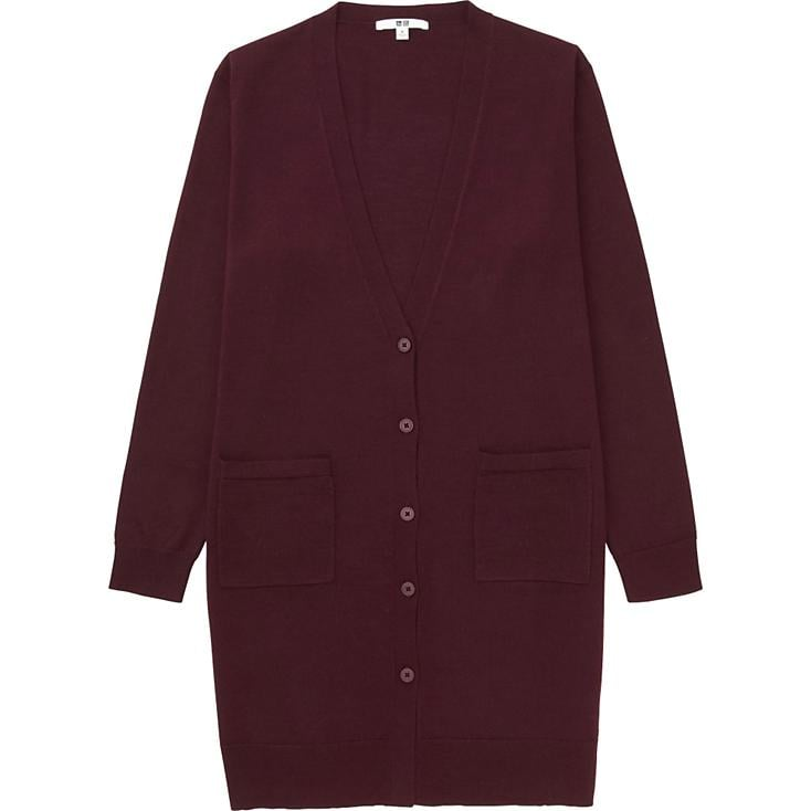 Merino Wool Blend Cardigan. Available in multiple colors. Uniqlo. $39.