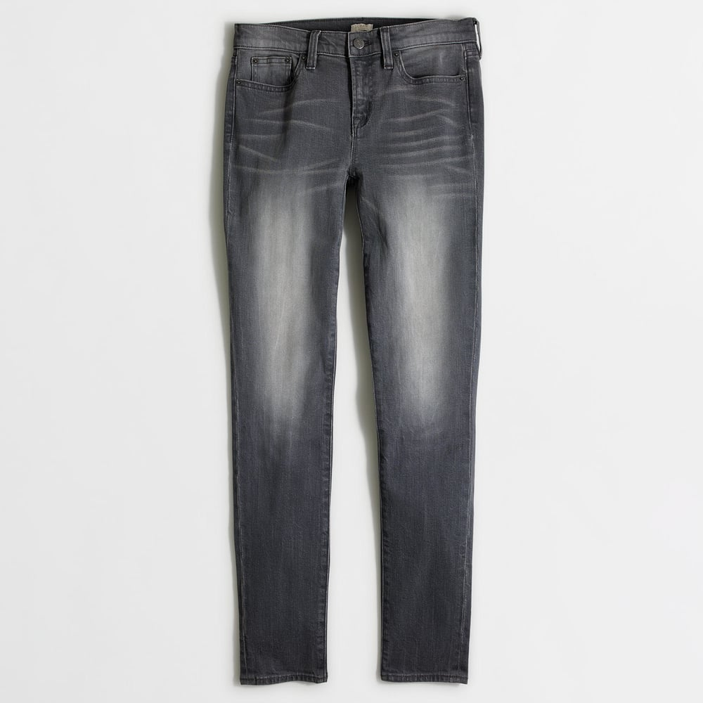 Factory Grey Wash Skinny Jean. J.Crew Outlet. Was: $85 Now: $42.