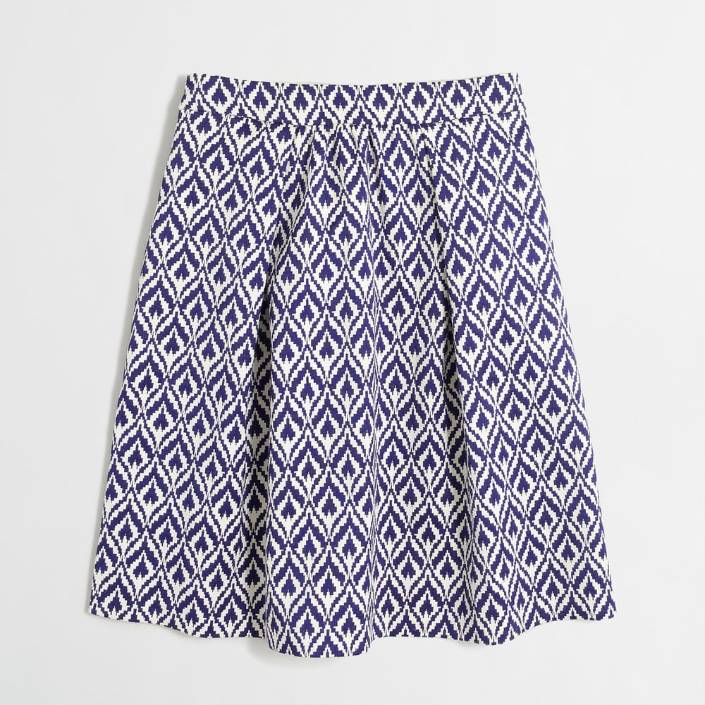 Factory Ikat Jacquard Skirt. J.Crew Outlet. Was: $79 Now: $44.