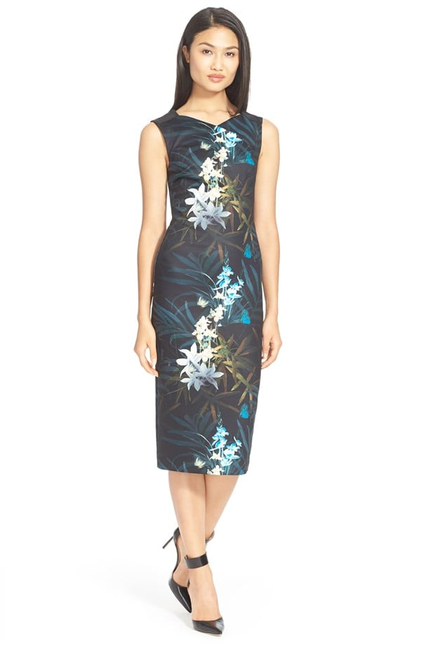 Ted Baker London Loua Floral Print Body Con Dress. Nordstrom. Was: $295 Now: $124.