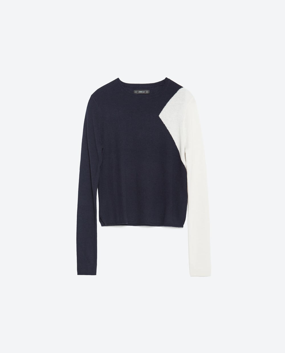 Cropped Two Tone Sweater. Zara. Was: $49 Now: $29.