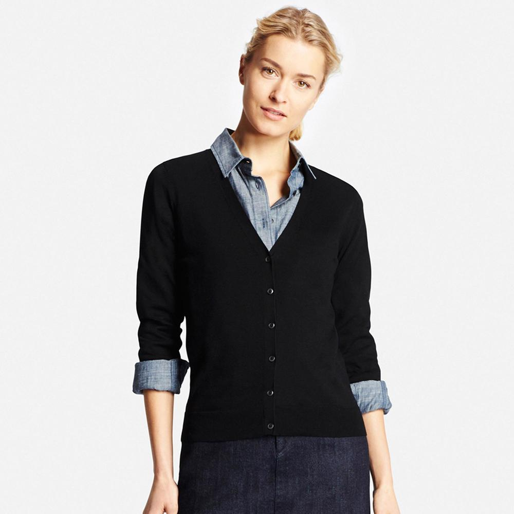 UV Cut V-Neck Cardigan. Available in multiple colors. Uniqlo. $29.