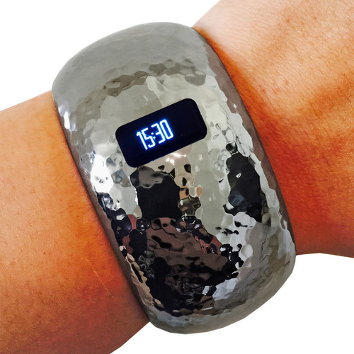 The Brianna Insight in Hematite. Compatible with the Fitbit Charge or Charge HR Fitness Trackers. Funktional Wearables.$44.