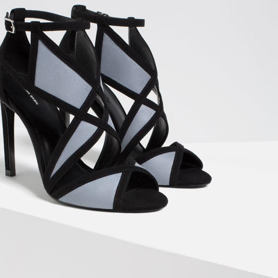 Contrast Wraparound High Heels. Zara. $69.