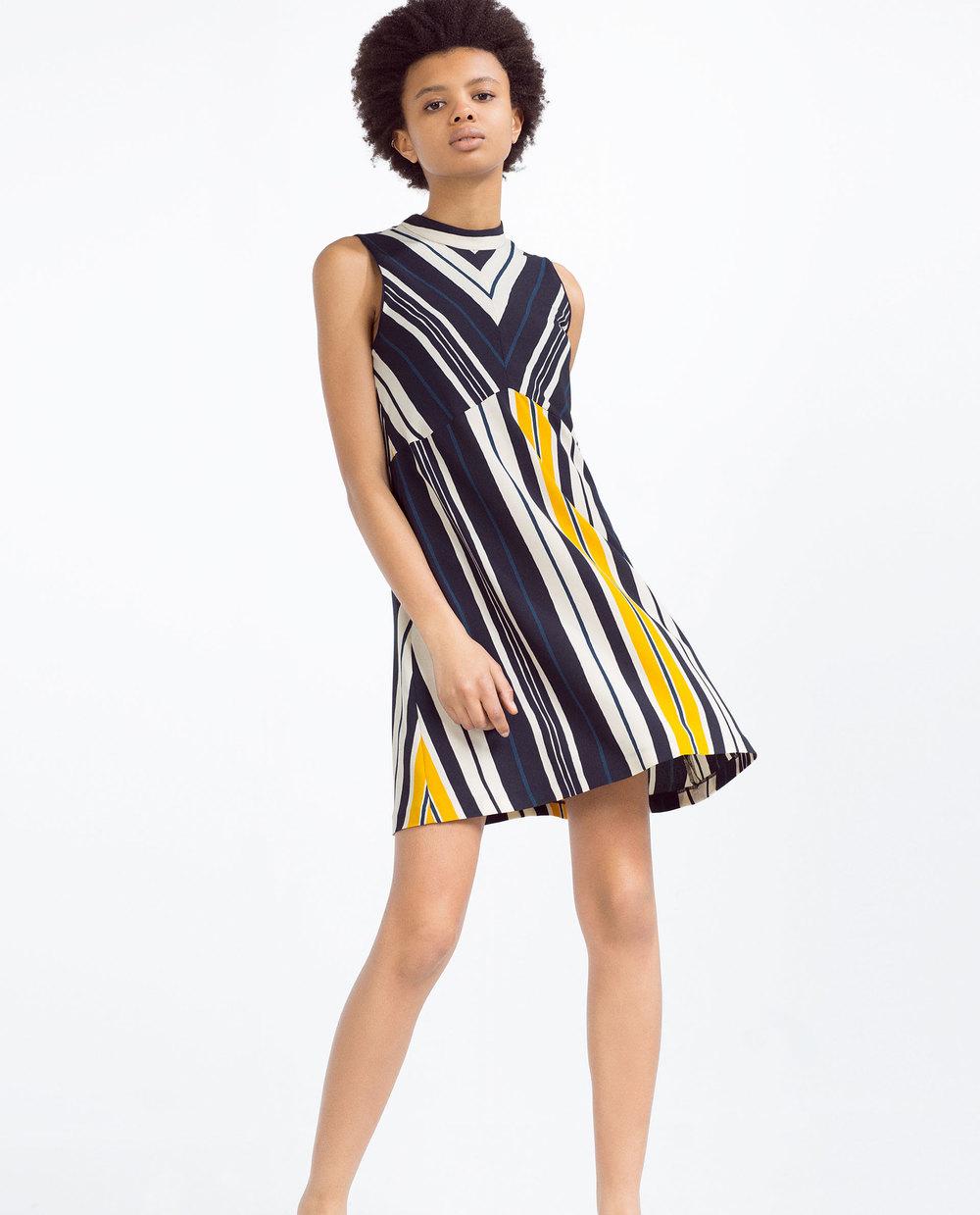 A Line Striped Dress. Zara. $49.