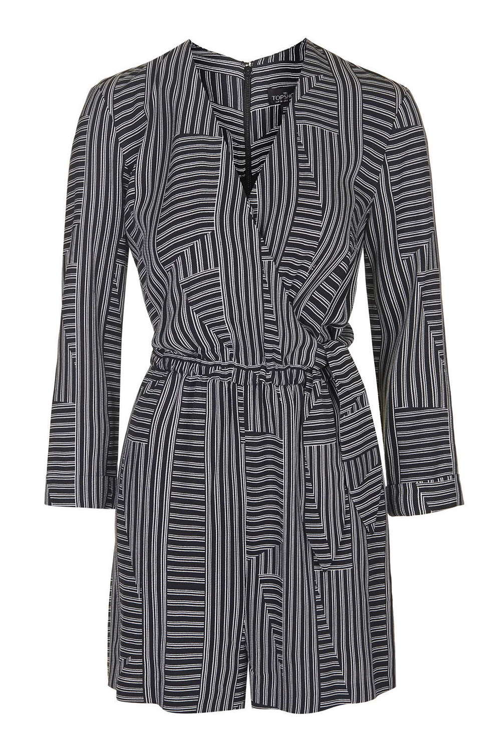 TALL Stripe Wrap Playsuit. Topshop. $95.