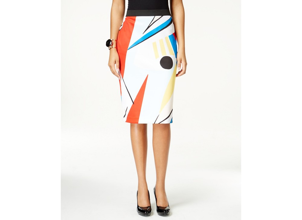 Grace Elements Abstract Print Scuba Pencil Skirt. Macys. Was: $40 Now: $23.