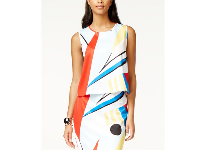 Grace Elements Abstract Print Scuba Top. Macys. Was: $50 Now: $23.