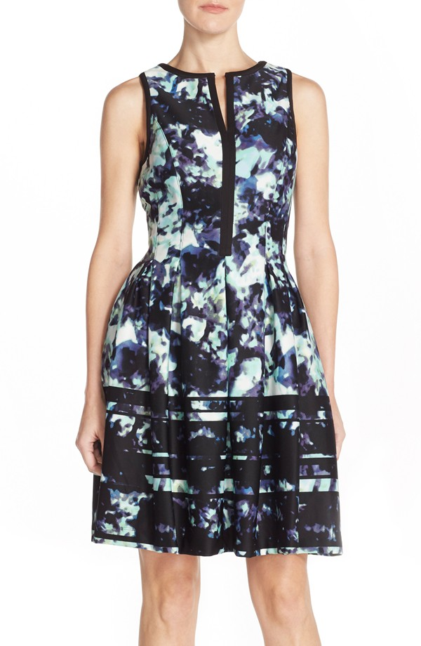 Vince Camuto Print Scuba Fit & Flare Dress. Nordstrom. Was: $148 Now: $88.