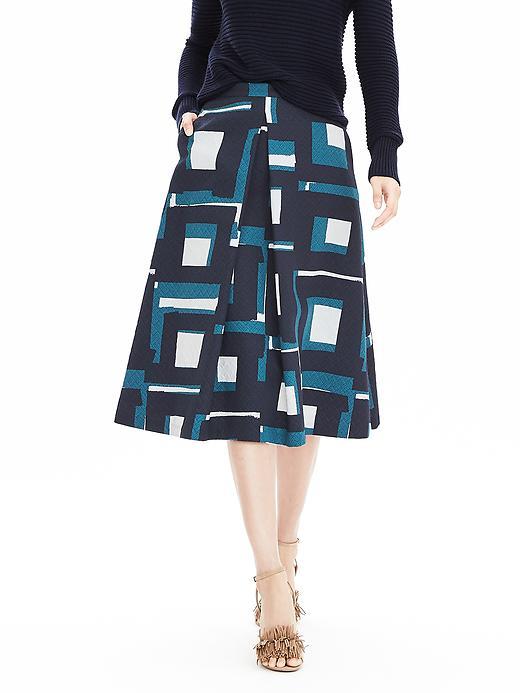 Geo Jacquard Midi Skirt. Banana Republic. $138.