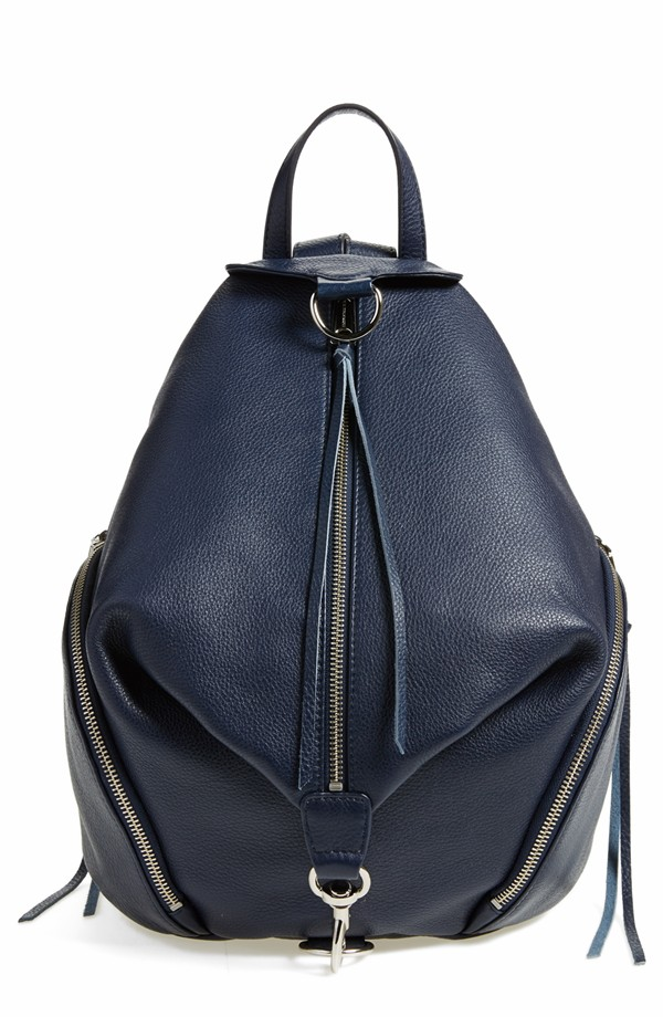 Rebecca Minkoff Julian Fringe Backpack. Available in multiple colors. I like moon (navy). Nordstrom. $295. See the Matt & Nat version here.