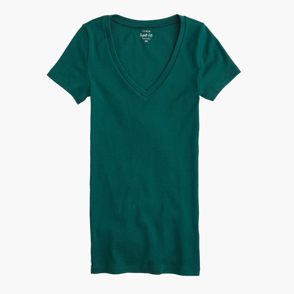 J.Crew Perfect Tee. Available in multiple colors. J.Crew. $19-24.