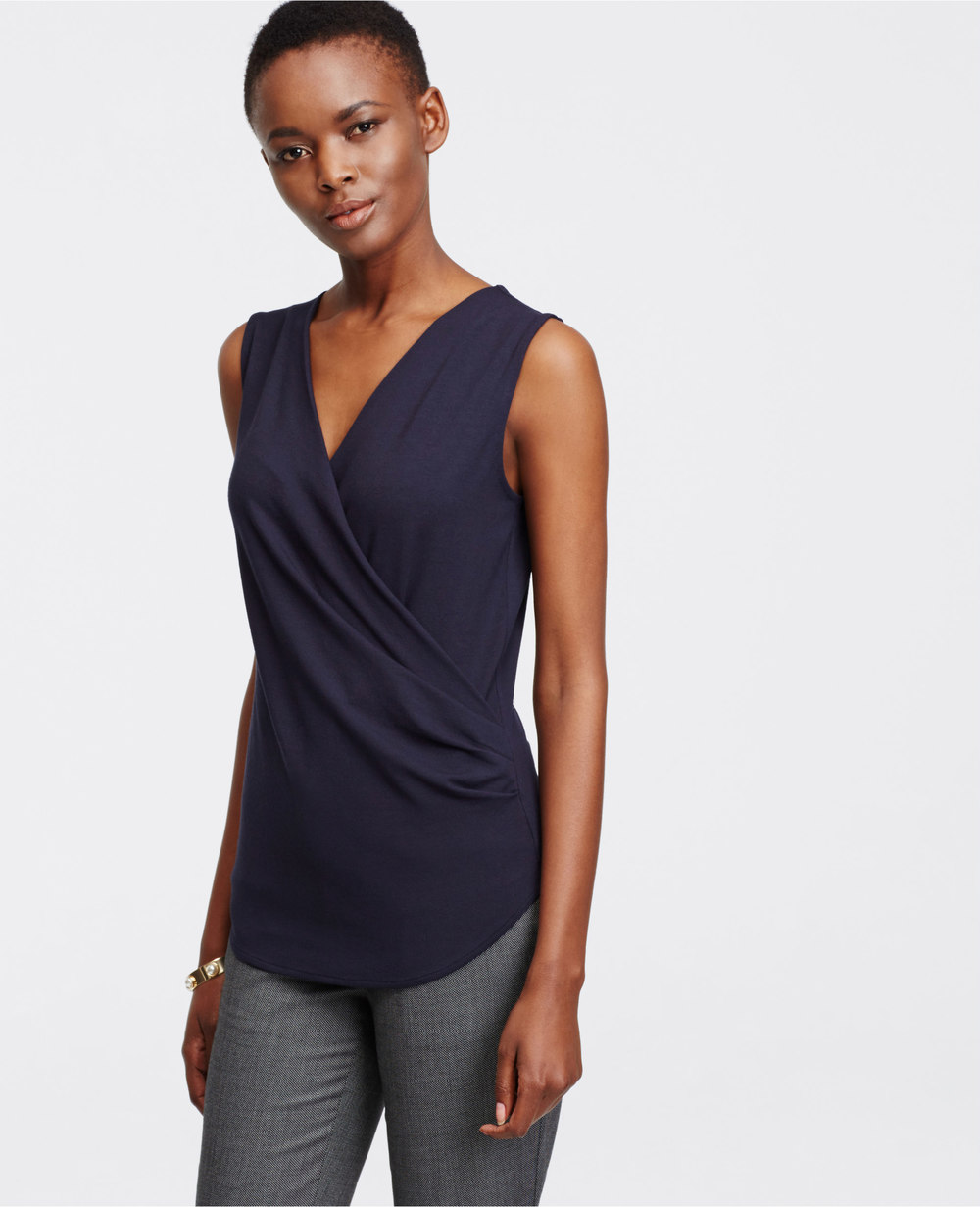 Tall Crepe Wrap Shell. Ann Taylor. $49.