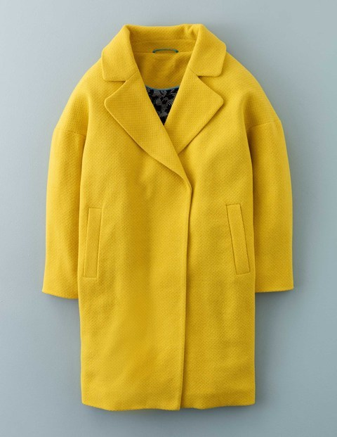 Carrie Coat WE534. Available in yellow, navy. Boden. Was: $298 Now: $265.