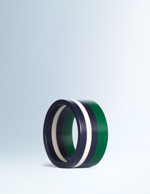 Resin Bangle AK299. Available in two color combos. Boden. Was: $28 Now: $25.