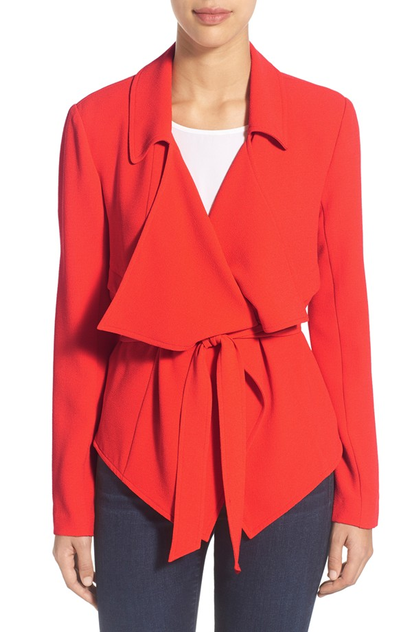 Vince Camuto Belted Draped Jacket. Was: $169 Now: $101.