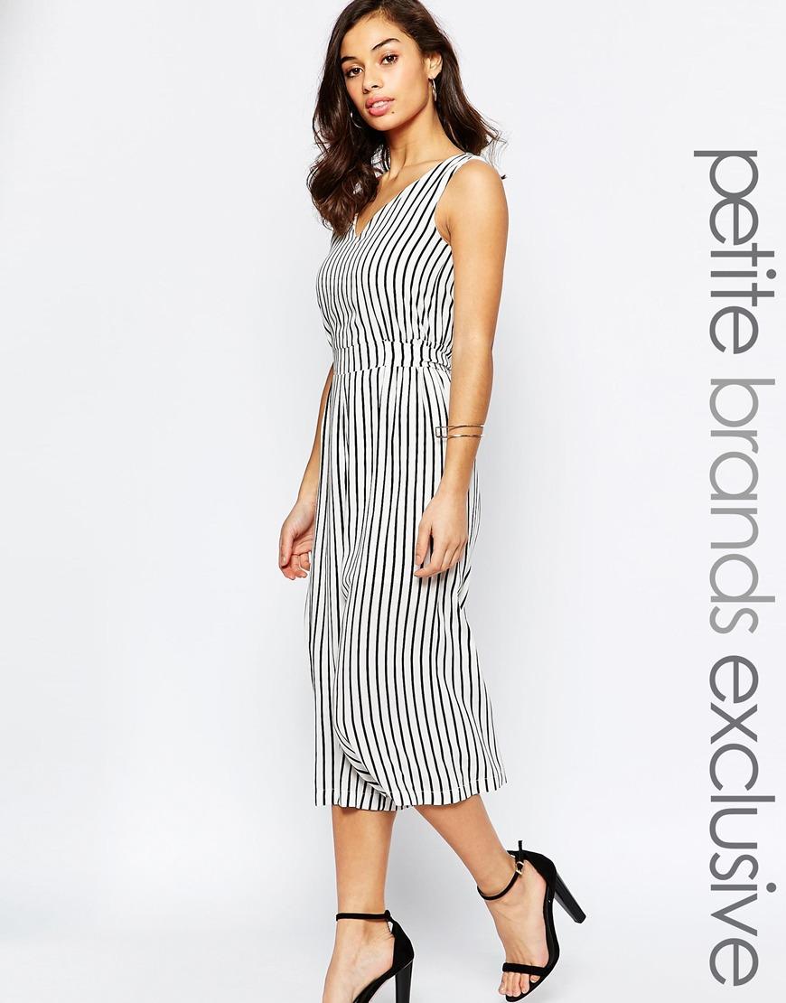 Petite Glamorous Fine Stripe Wide Leg Jumpsuit. ASOS. $60.