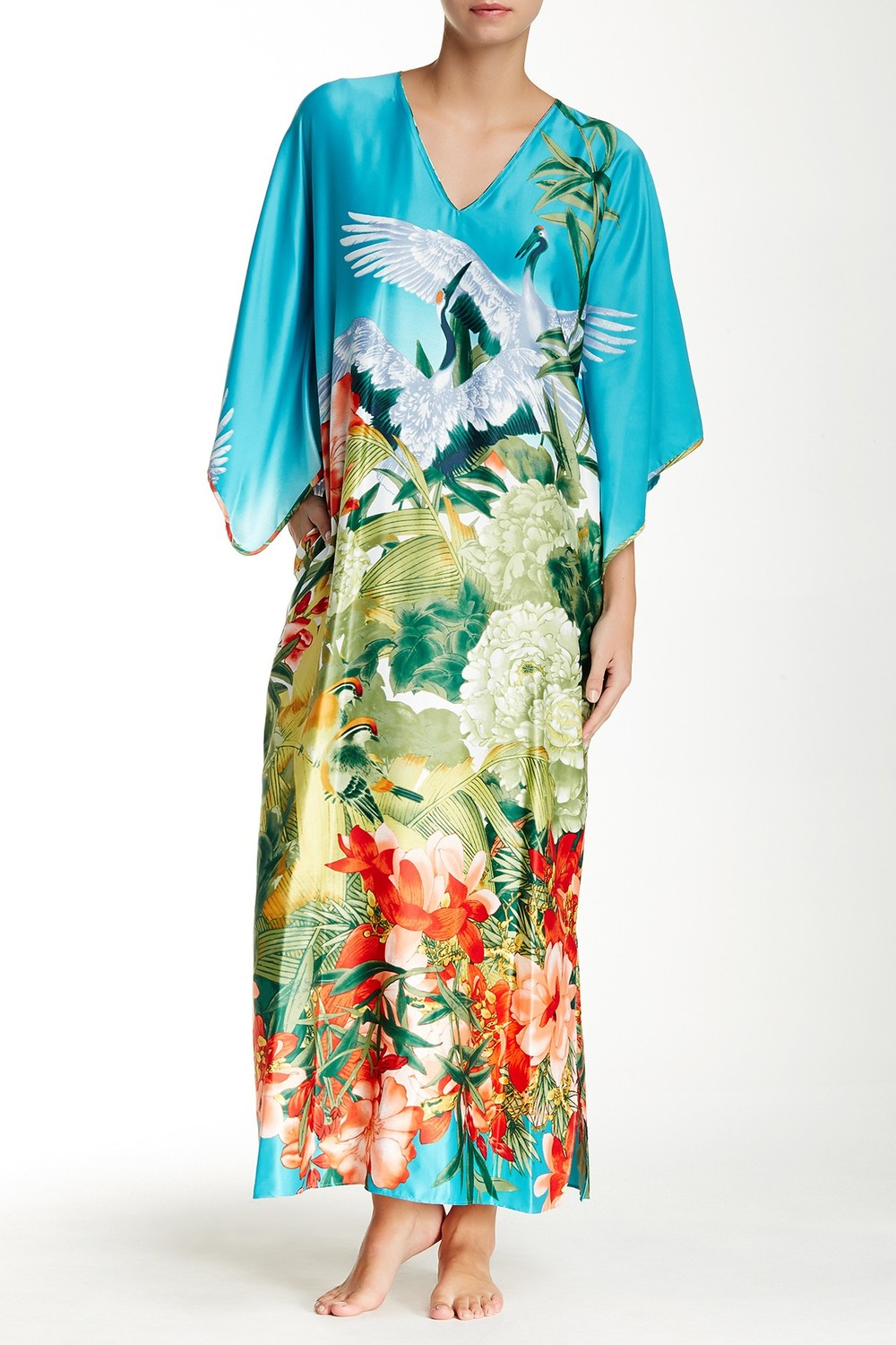 Natori Birds of Paradise Caftan. Nordstrom Rack. Was: $180 Now: $69. (Admittedly, this isn't for everyone. But it's PERFECT for someone.)