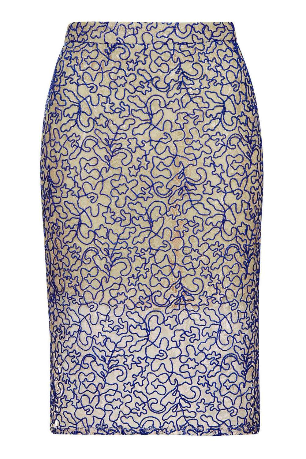 Petite Cord Lace Pencil Skirt. Topshop. $100