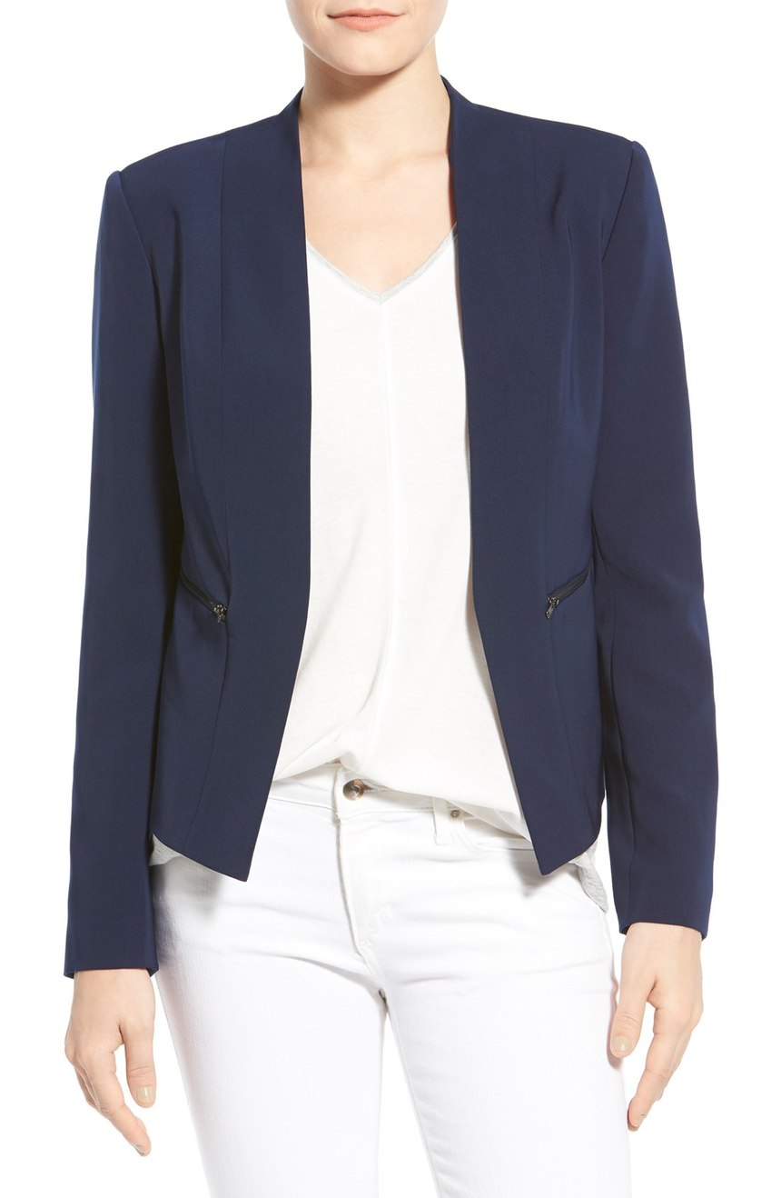 Halogen Zip Pocket Open Front Jacket. Available in multiple colors and petite. Nordstrom. $98.