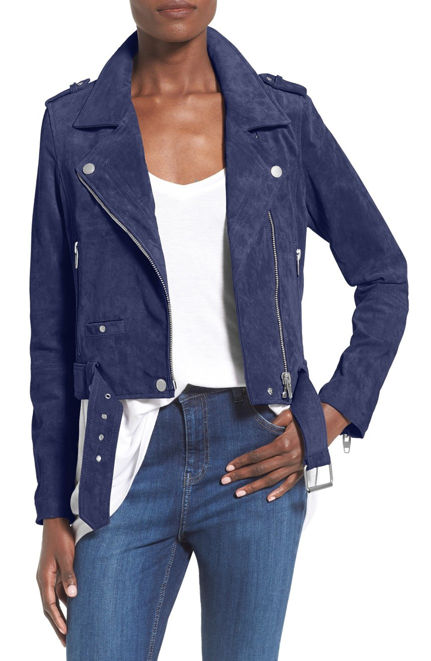 Blank NYC Morning Suede Moto Jacket. Nordstrom. $188.