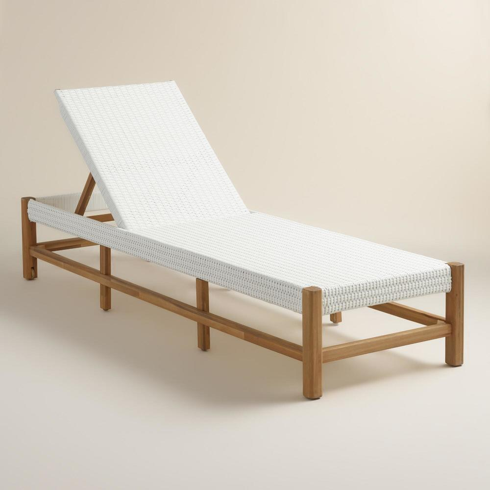 Wood Sirmione Pool Lounger. Cost Plus. $349.