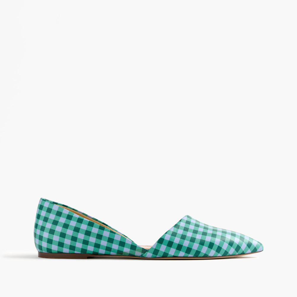 Sloan Gingham Leather d'Orsay Flat. J.Crew. $168.