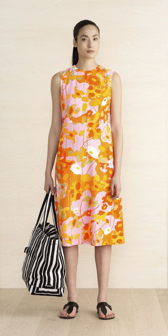 Eline Dress. Available in two colors/ prints. Marimekko. $325.