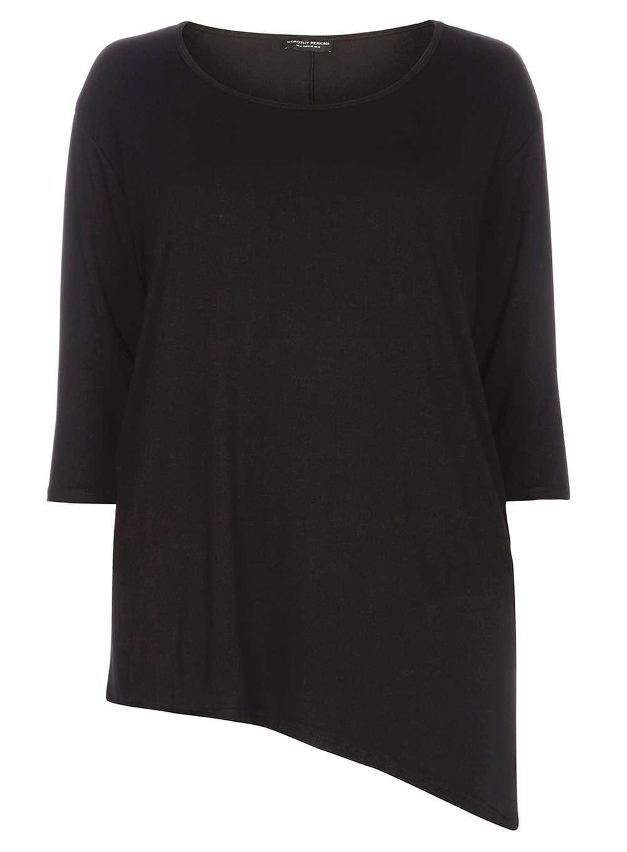 DP Curve Black 3/4 Asymmetrical Top. Dorothy Perkins. (Viscose). $28.