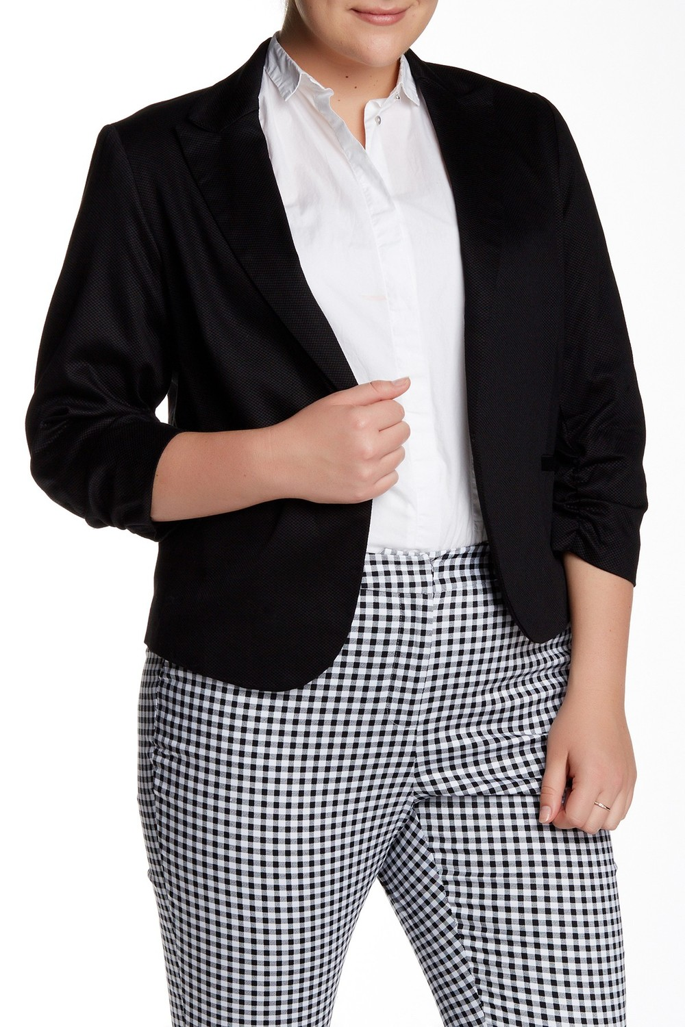 Amanda & Chelsea Ruched Sleeve Jacket. Nordstrom Rack. Was: $180 Now: $64.(cotton)