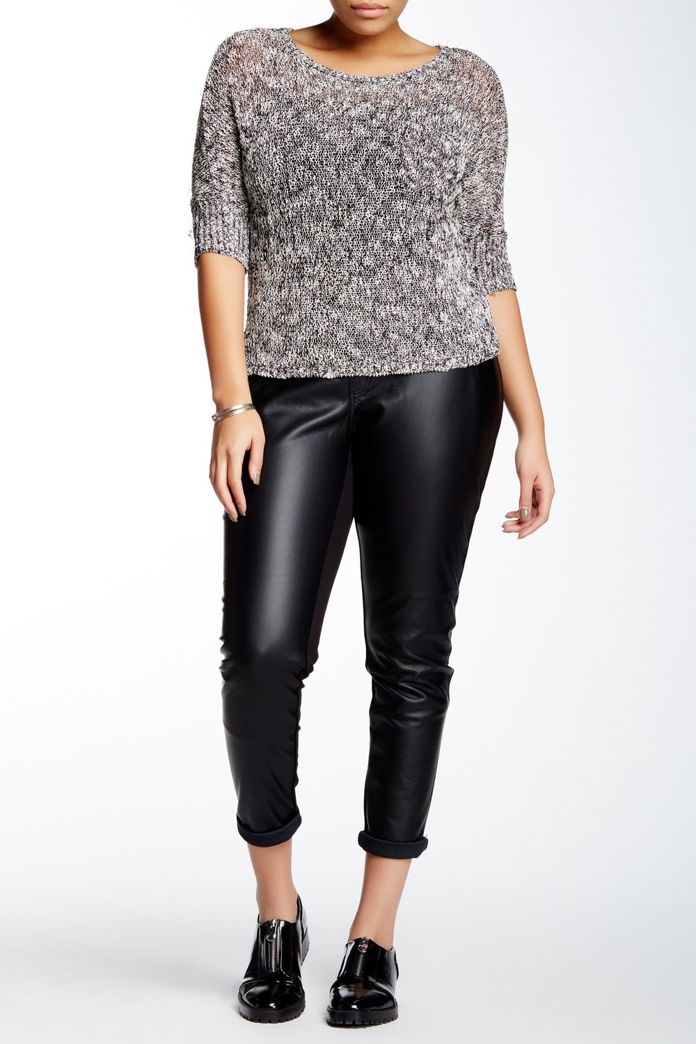 Tart Morgan Mixed Media Pant . Nordstrom Rack.Was: $148 Now: $79 Available in two colors. (Vegan leather)