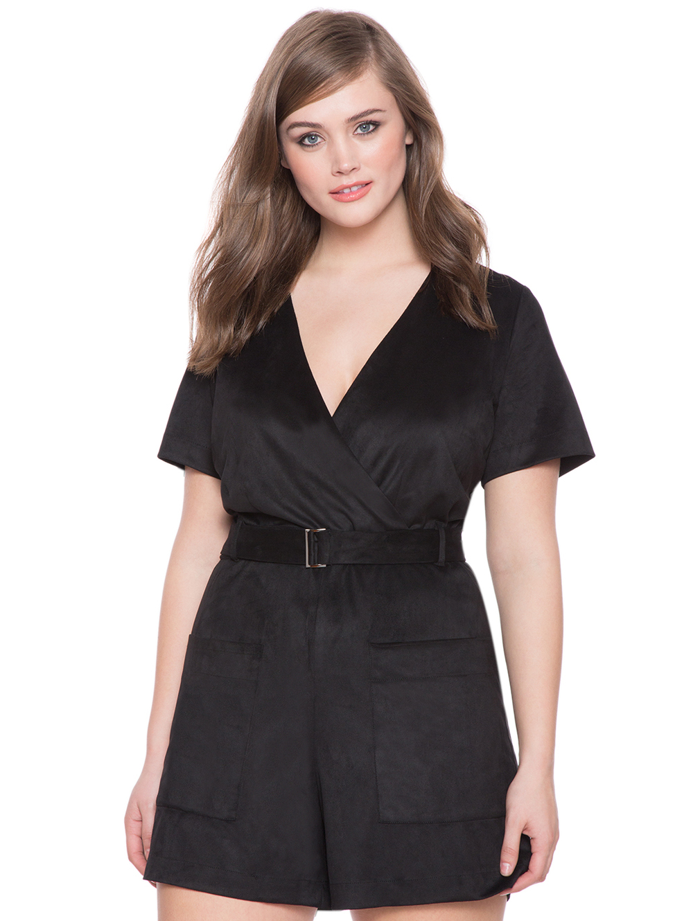 Faux Suede Romper. Eloquii. $110 Additional 60% off with code: ENJOY.
