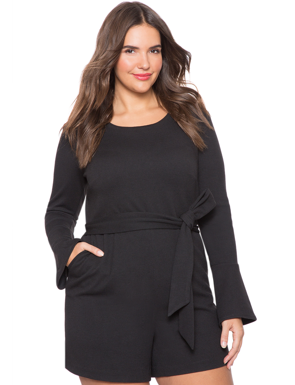 Textured Knit Romper. Eloquii. $99. Additional 60% off with code: ENJOY.