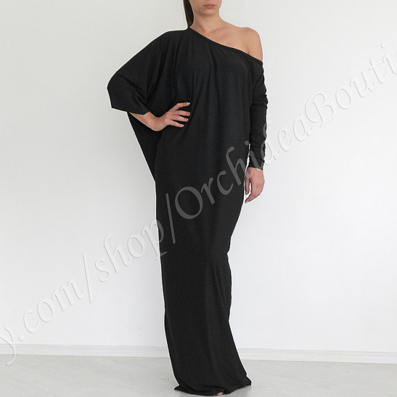 Black Maxi Dress Oversize. Available in multiple colors. Etsy. $65.