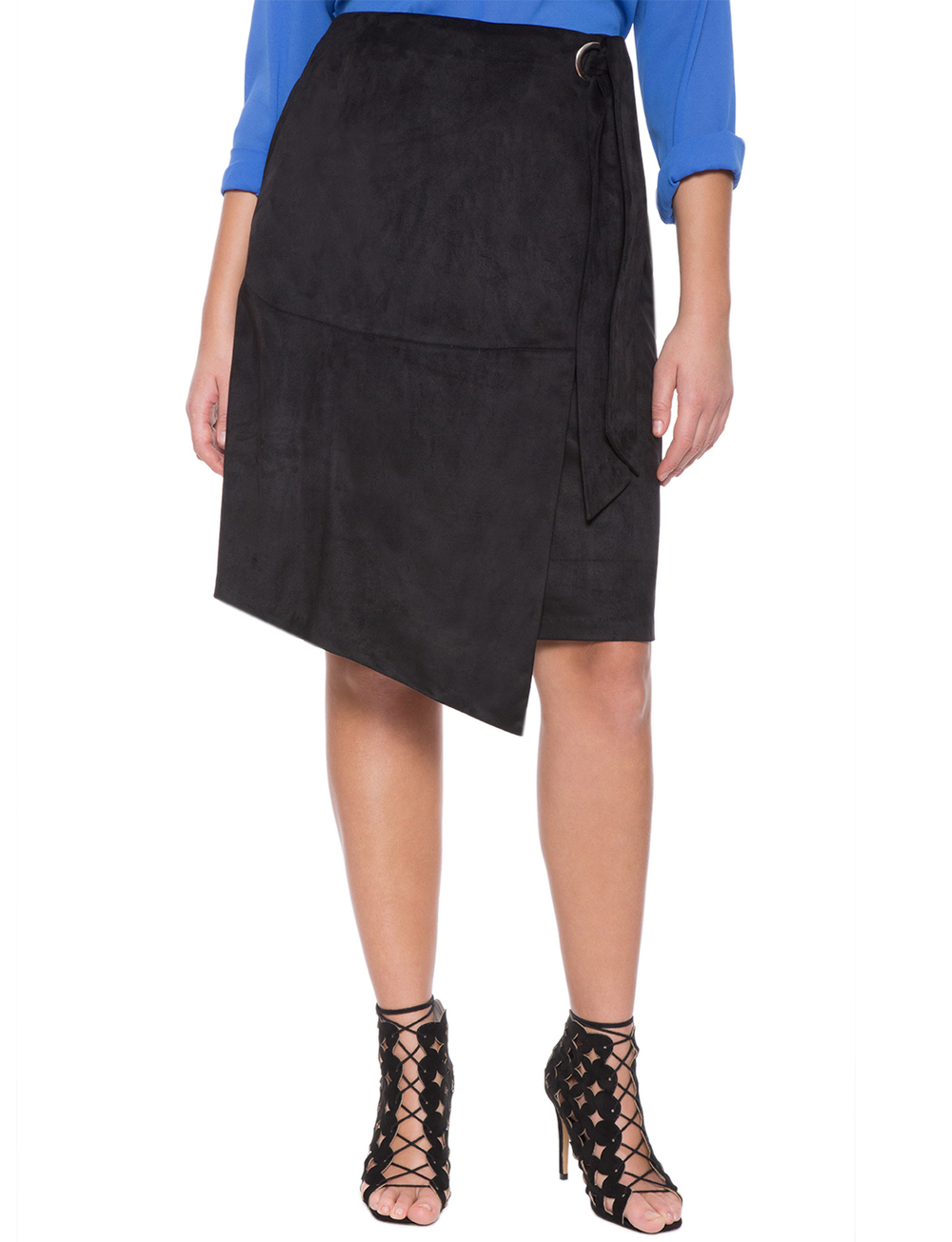 Faux Suede Wrap Skirt. Eloquii. Was: $79. Take an additional 60% off with code: SHOPMAY.