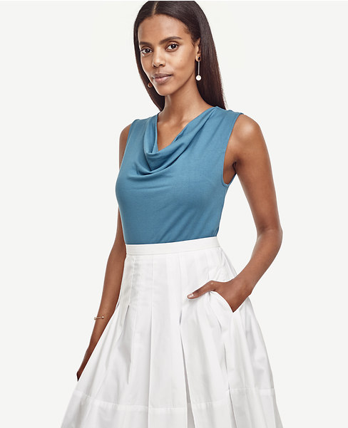 Sleeveless Cowl Neck. Available in multiple colors and in tall. Ann Taylor. $49. (Additional 40% off at checkout.)