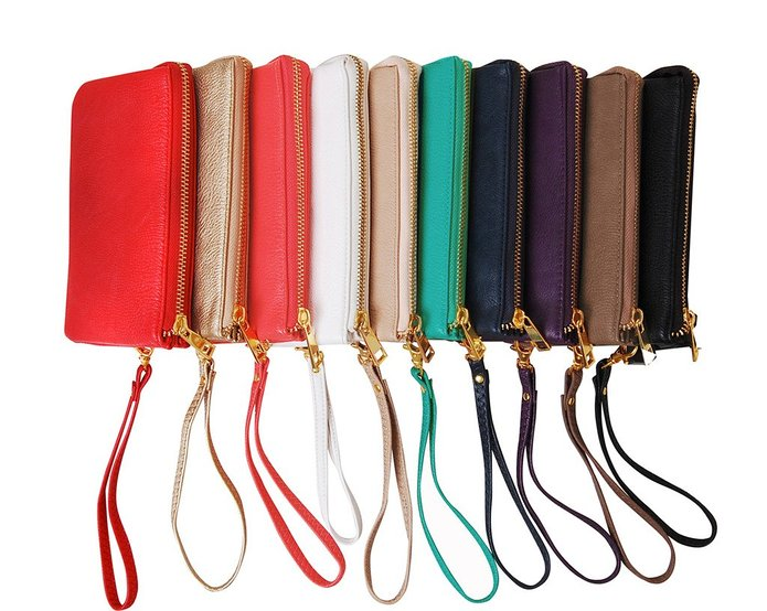 Humble Chic Vegan Leather Large Wristlet with Cross Body Strap. Available in multiple colors. Humble Chic. $38.