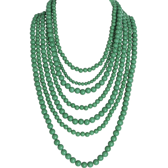Humble Chic Bold Bead Multistrand Necklace. Available in multiple colors. Humble Chic. $44.