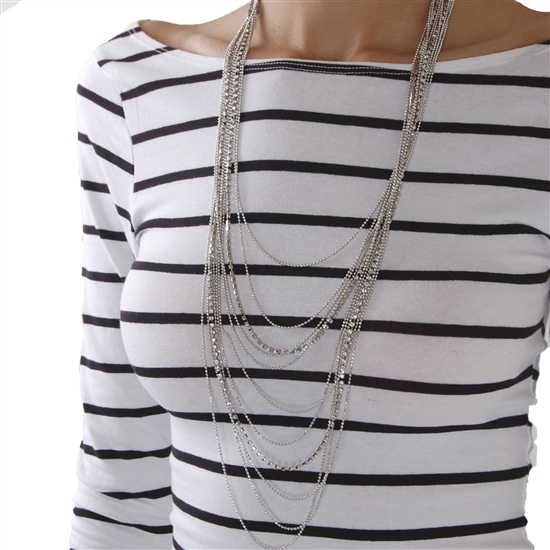 Waterfall Jewel Necklace. Available in silver, gold. Humble Chic. $48.