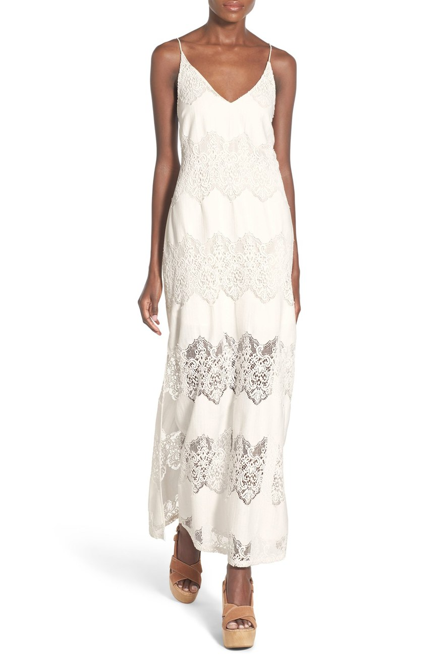 ASTR Tassel Tie Lace Maxi Dress. Nordstrom. $98.