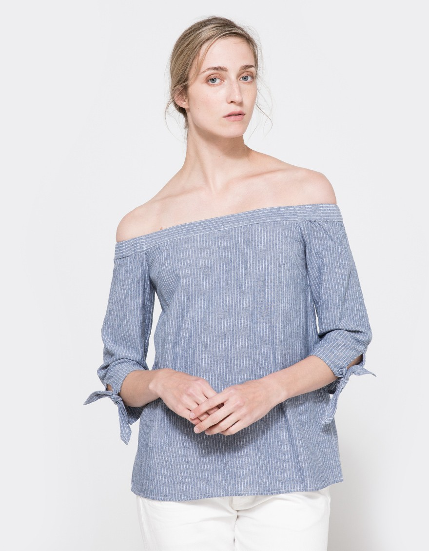 Eugenia Top in Denim. Need Supply. $58.