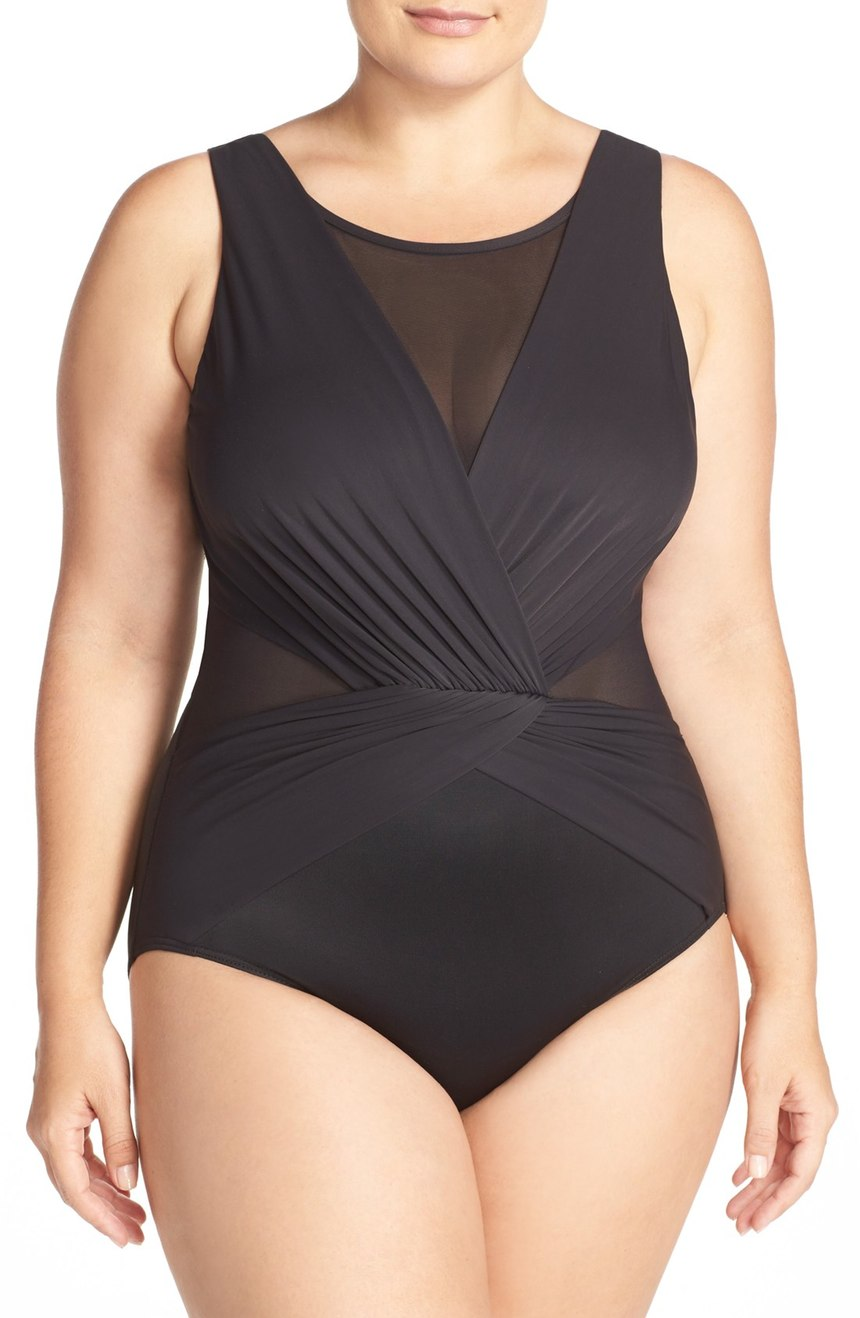Miraclesuit®  'Solid Palma' One-Piece Swimsuit (Plus Size). Nordstrom. Was: $182. Now: $120.